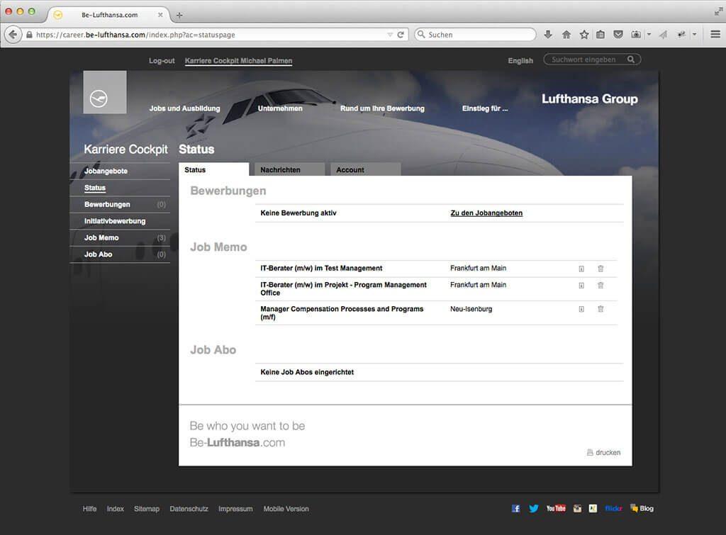 Lufthansa Group Recruitingsystem Milchzucker Talent