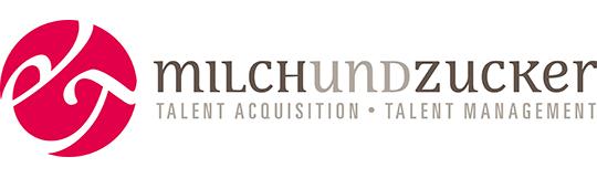 milch & zucker Logo mit Unterzeile in 4C
