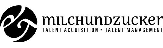 milch & zucker Logo mit Unterzeile in Schwarz