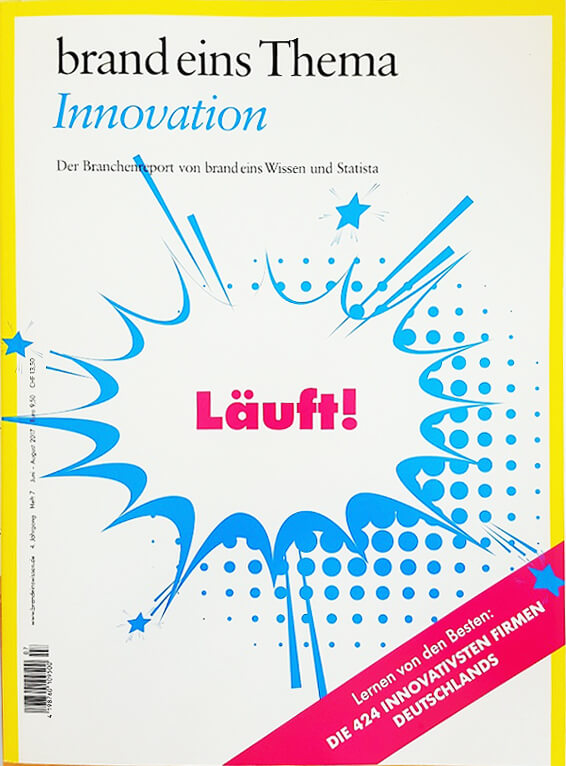 Titelseite brand eins Themenheft Innovation