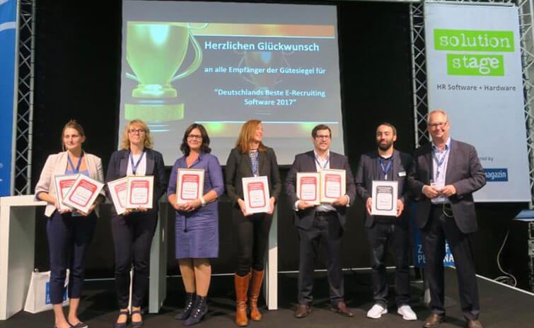 Preisverleihung Zukunft Personal ICR Bestes Bewerbermanagement System
