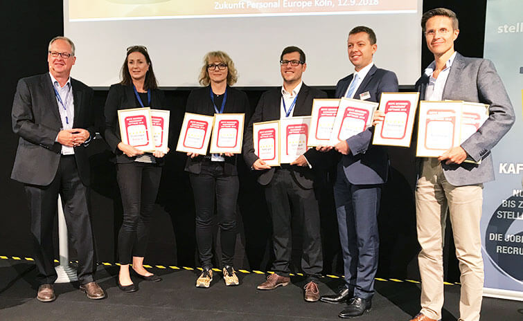 BeeSite® Recruiting Edition - Bestes Bewerbermanagement System 2018 - Preisverleihung Zukunft Personal - ICR