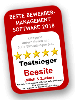 BeeSite Recruiting Edition - Testsieger - beste Bewerber-Management Software 2018