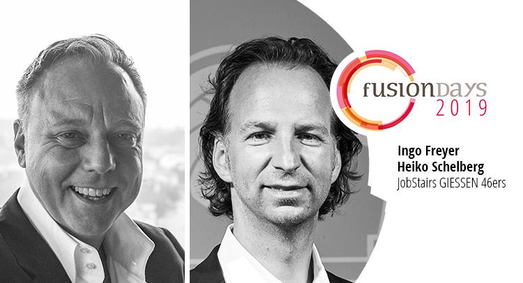 Ingo Freyer und Heiko Schelberg der JobStairs GIESSEN 46ers werden auf den Fusion Days 2019