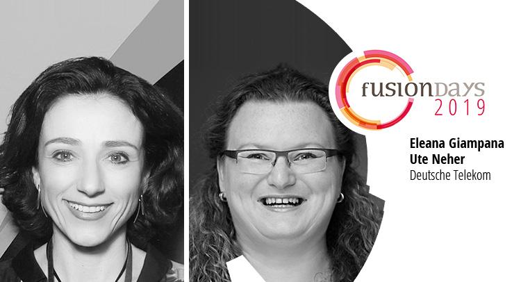Eleana Giampana und Ute Neher von der Telekom auf den Fusion Days 2019