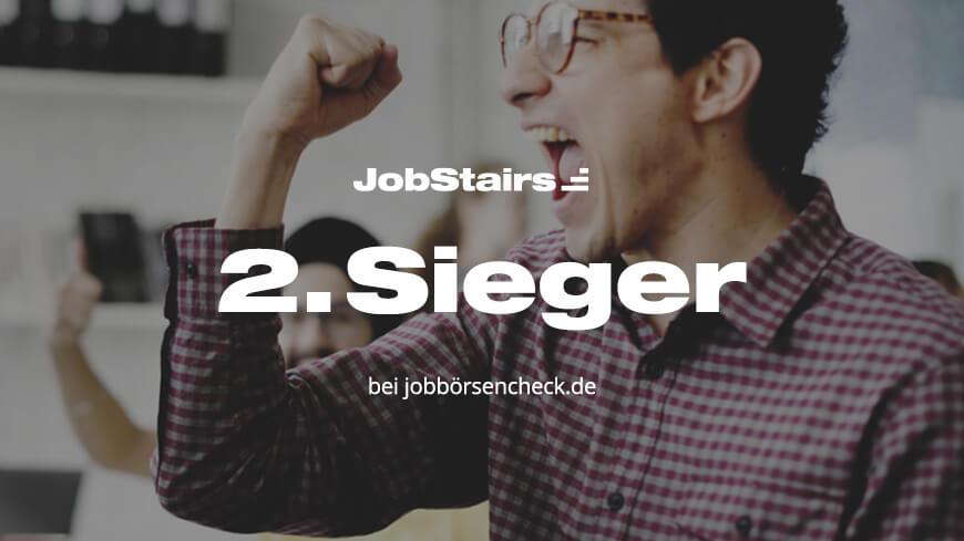 JobStairs Testsieger bei Jobbörsenscheck.